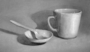 Coffee cup and spoon by saret