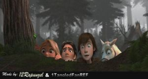 Hiccup and the Tangled Crew by x12Rapunzelx