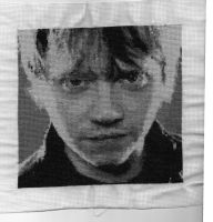 rupert grint/ron weasley by octoberspoison