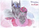 Optimus Prime and Laurelin (Movie) by DarkAudi1728
