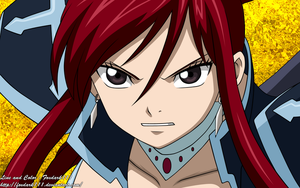 Erza Black Armor by Foxdark111