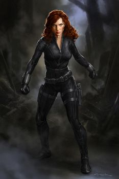 The Avengers- Black Widow 01 by andyparkart