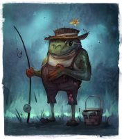 Fisher Frog by JohnoftheNorth