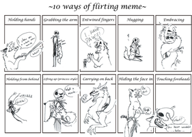 10 ways of flirting meme by wolffuchs