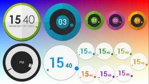Asus Clocks Pack for xwidget by jimking
