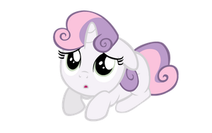 Sweetie Belle Scared by Bronyboy