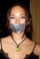 Kristin Kreuk tape gagged by ikell