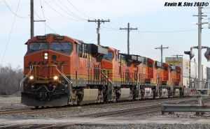 BNSF 7464 rockets the rails @ 70MPH by EternalFlame1891