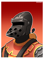 TF2 - Pyro Knight Bust Shot by Dragonith