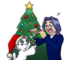 Jou Gomamon Xmas by thefruitpatch