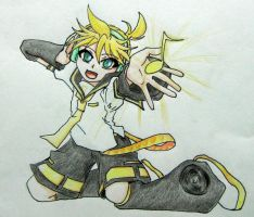 [VOCALOID] Kagamine Len - Sing with me by HunterK