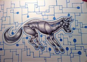 Mechanical Wolf by kmp0511