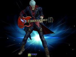 Devil May Cry 4 - Nero playing electric guitar by ExistingBox9