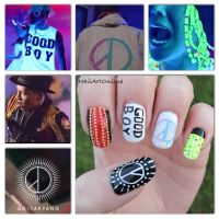 Kpop: GD X TAEYANG - GOOD BOY nail art by NailArtOnline