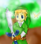Link and the Master Sword by Chibixi