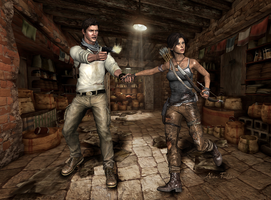 Lara and Nate - Let's Get the Hell Out! by AlienFodder
