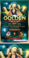 Golden Party Flyer Template by bouzix