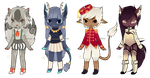 Random Anthros [Adoptables] CLOSED by Siraviena