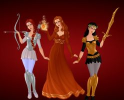 The Maiden Goddesses by DemiSanguiMagus
