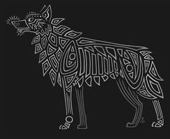 Lined Wolf by DragonNightArt