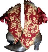 French Red Poetry Spats by MAIDESTREASURIES