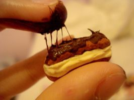 Miniature chocolate eclair by KawaiiPetitPois