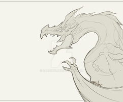 Dragon sketch  by Sarcix82