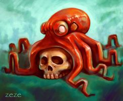 skull octopus by ZOOMZOOMMM