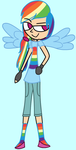 My Little Fashion: Rainbow Dash by LilyQueenOfPurple