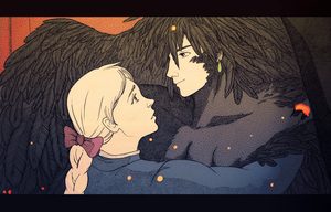howl and sophie (screencap re-draw) by kat-colette