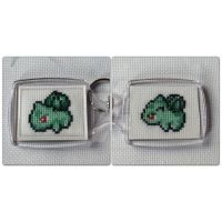 Bulbasaur keychain by horrorfreakjuh