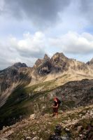 Hiking with Simone. by johannmetzger