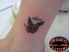monark butterfly by theothertattooguy