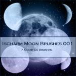 Ischarm Moon Brushes 001 by ischarm-stock