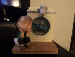Washing Machine Linus and Snoopy by PysiCollectionCorner