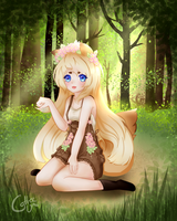 Grove in the Woods by CoffeeUmi