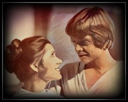 Luke and Leia - The Empire strikes back - by Doveri