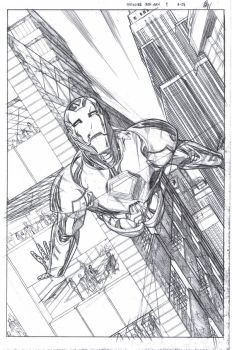 Invincible Iron Man page 1 by ericalannelson