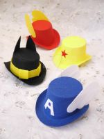 Super Hero Top Hats by smallrinilady