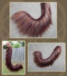 28-inch Custom Posable Yarn Tail Commission by Black-Heart-Always