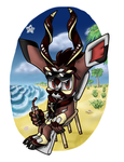 Clash the Kudu chillin at the beach by monstaris