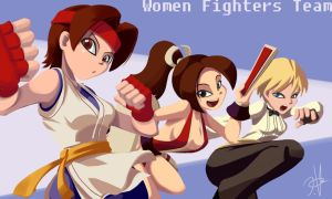 Woman Fighters Team by chikinrise
