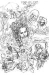 The Godess pencils 04 by HugoPetrus