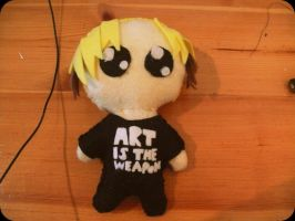 ART IS THE WEAPON-mikey doll by galoveunicorns