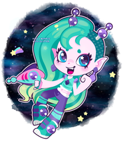 Green Space Girl by Miss-Glitter