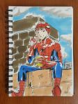 Day 84 Spiderman eating shawarma by TomatoStyles