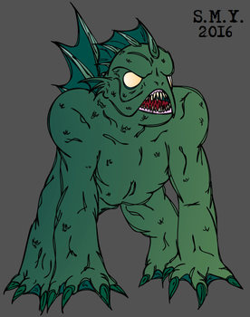 The Gill Monster by Sean-M-Yeager