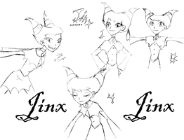 Jinx sketches by GalaxyDancer