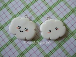 Cloud Charms 1 and 2 - White by FunkadelicPsychoFish