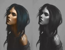 Portrait - Grayscale to Colour by MeWannaLearn
